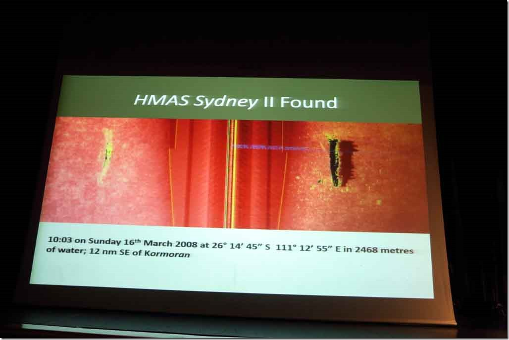 Lecture Jun 1st sonar picture when they found HMAS Sydney