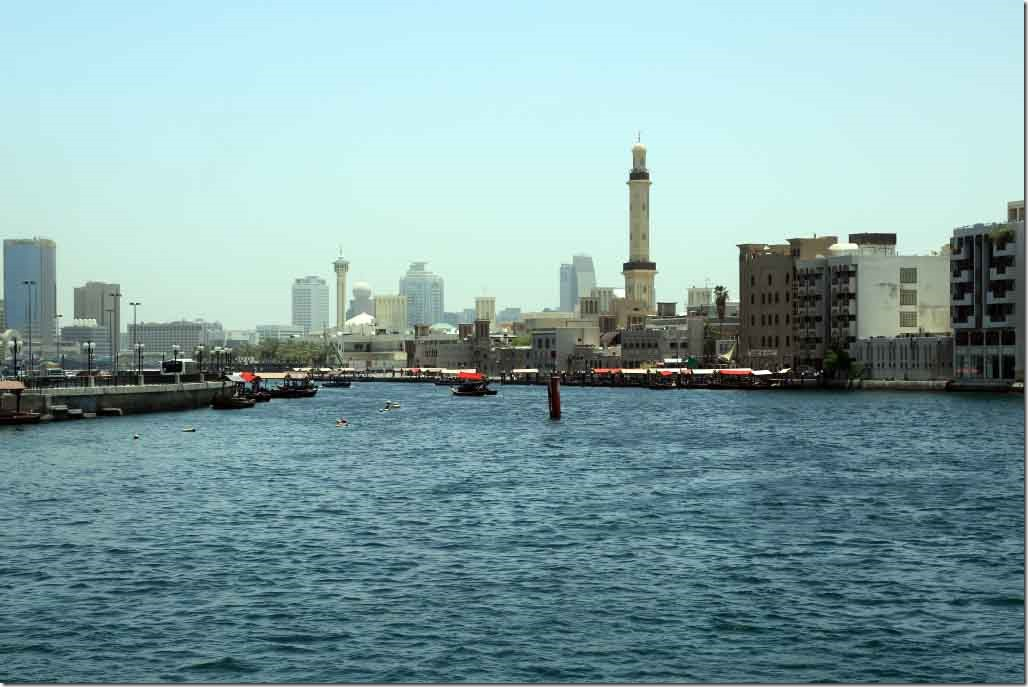 Looking back up Dubai Creek at the Old Souq terminus