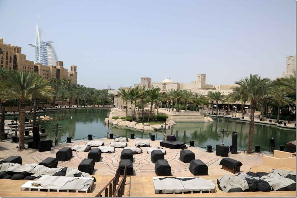 Madinat Jumeirah lagoon below the Noodle House where we had lunch