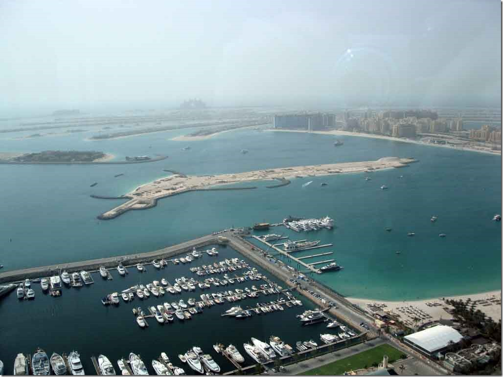 Palm Jumeirah south side and marina
