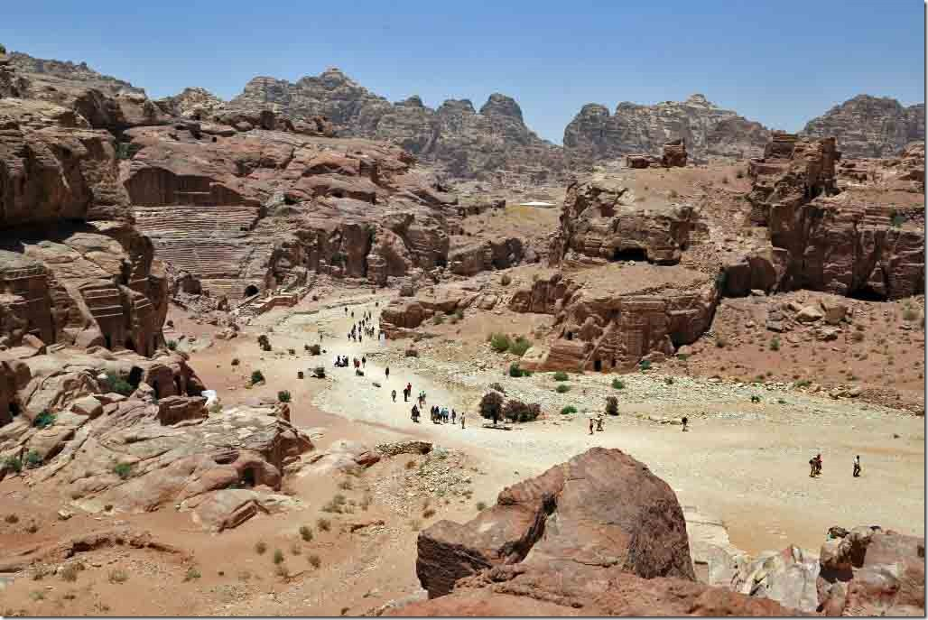 Petra when returning from atop the canyon