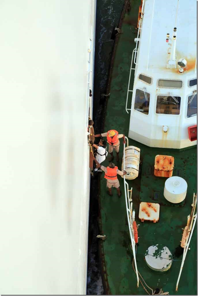 Pilot boarding Sea Princess approaching Colombo