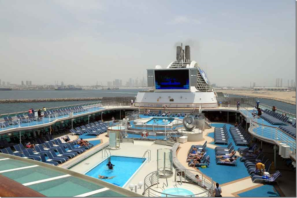 Pool deck on departure Dubai