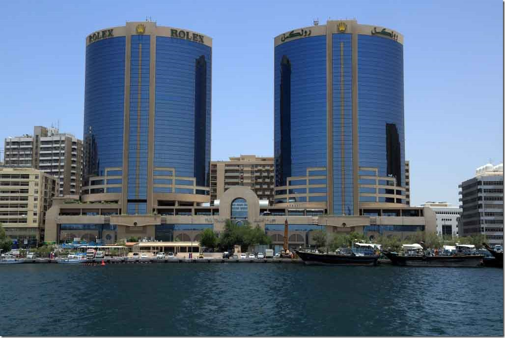 Rolex Buildings on Dubai Creek