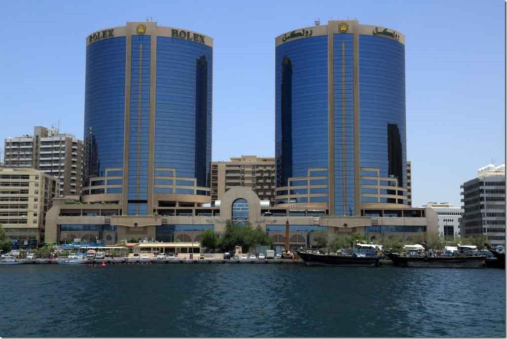 Rolex Buildings on Dubai Creek