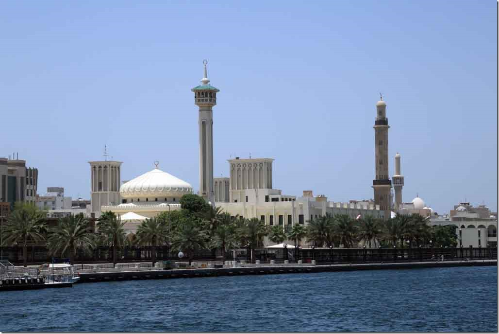 Ruler's Court and Grande Mosque on the banks of Dubai Creek