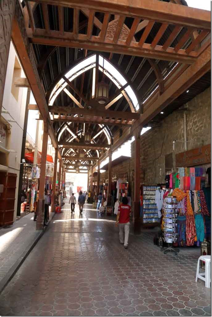 Shopping area in Dubai Old Souq