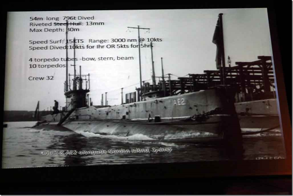 Submarine AE2 specifications