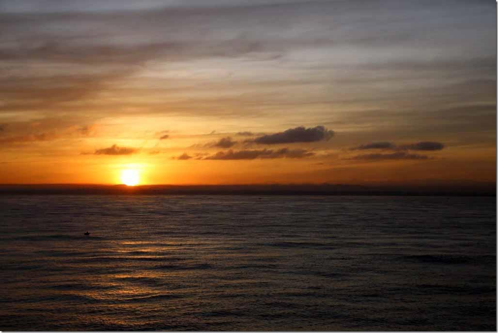 Sunrise over Sri Lanks on approach to Colombo