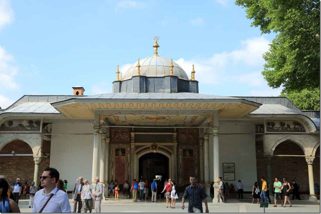 Topkapi Palace Gate of Felicity or entrance to 3rd courtyard