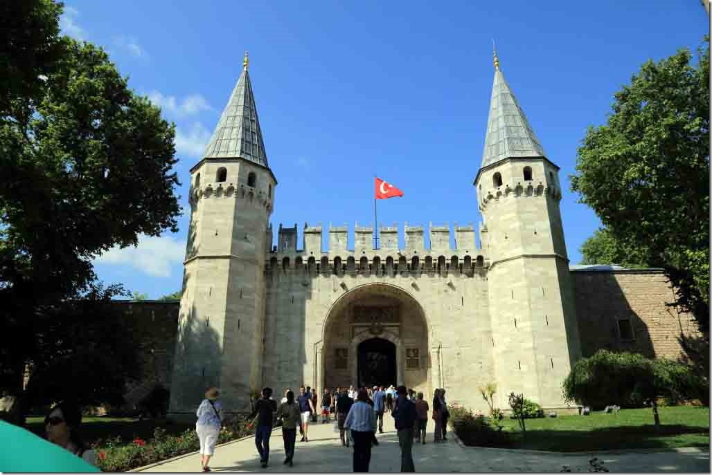 Topkapi Palace Gate of Salutation which is entrance to 2nd courtyard