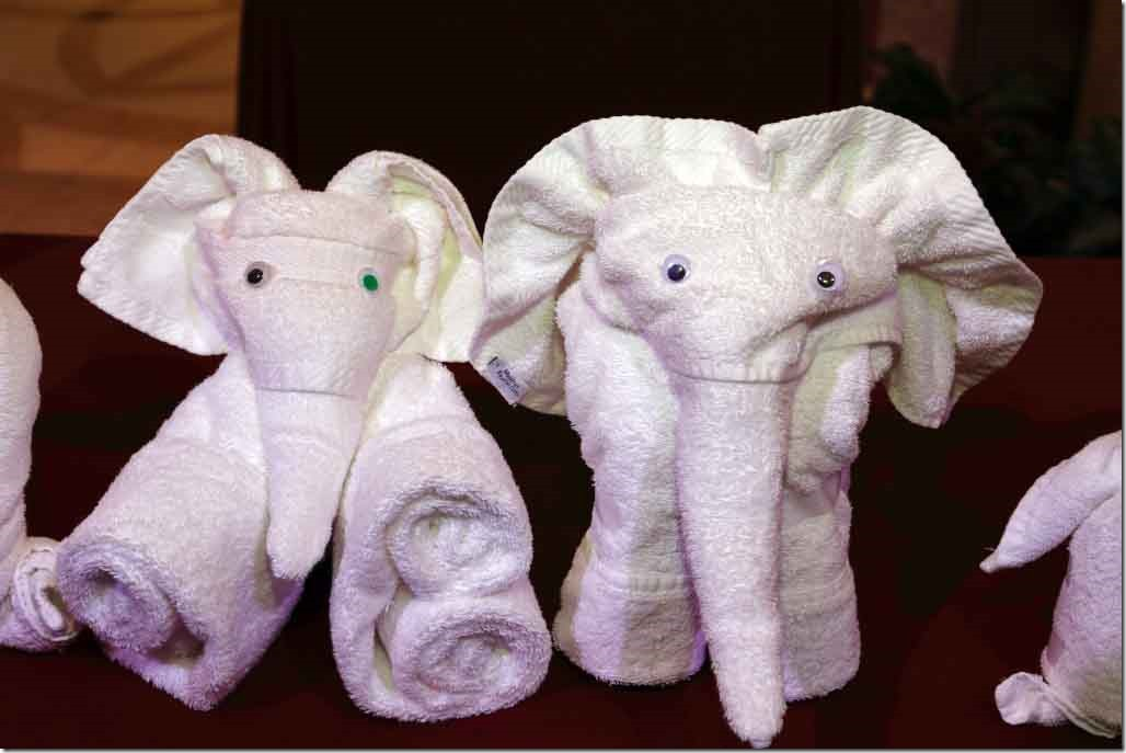 Towel Art - Two elephants