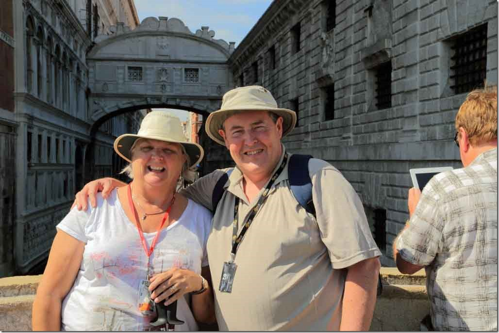 Andy and Judi with Bridge of Sighs in background