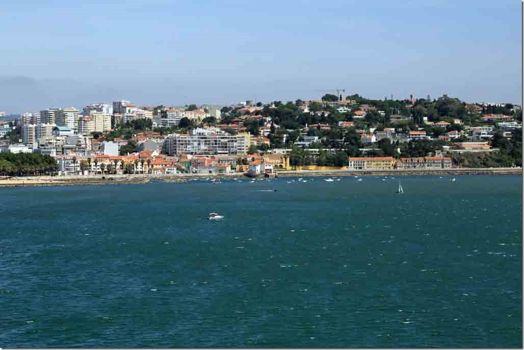 Approaching Lisbon with small boat moorage