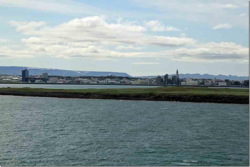 Approaching Reykjavik looking at downtown 2