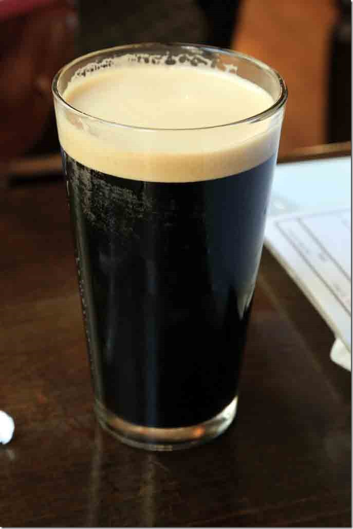 Beer authority pint of oatmeal stout