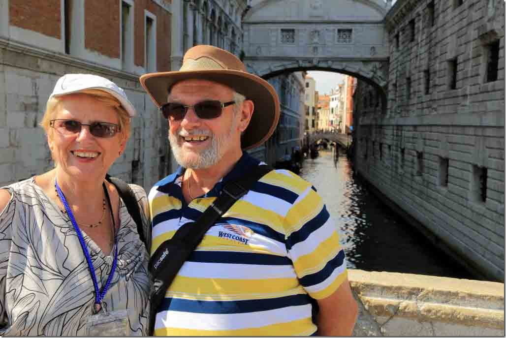 Bruce and Viv with Bridge of Sighs in background