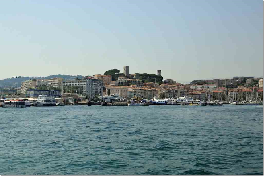 Cannes harbour while returning to Sea Princess