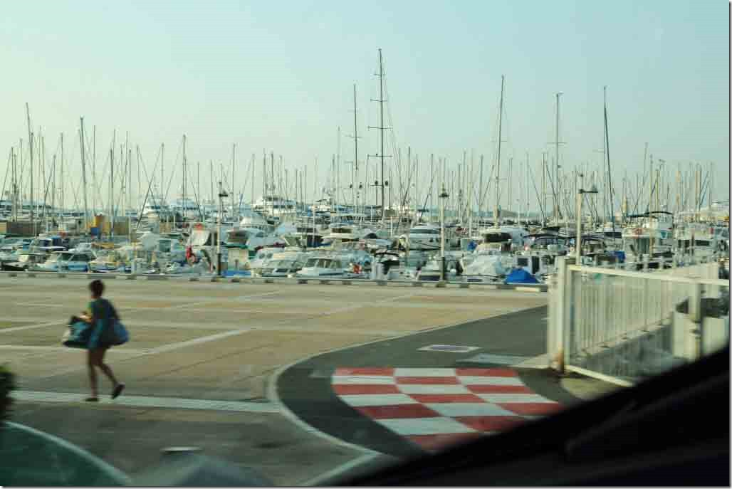 Cannes Marina from the bus
