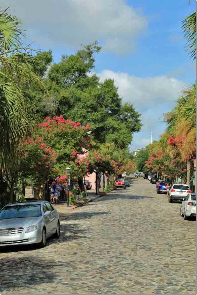 Charleston tour cobbled side street