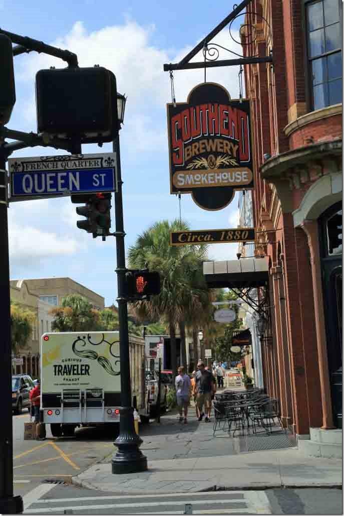 Charleston walk Brewery on Bay Street
