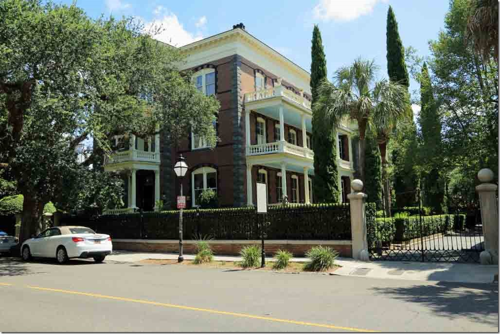 Charleston walk Calhoun Mansion from 1876 largest home in Charleston