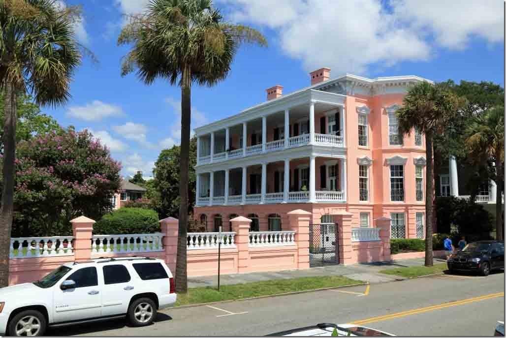 Charleston walk pink house on multi-million dollar row