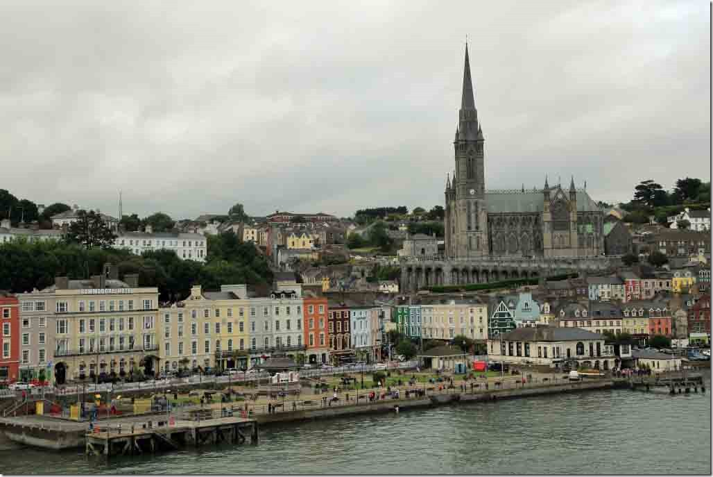 Cobh waterfront square and cathedral