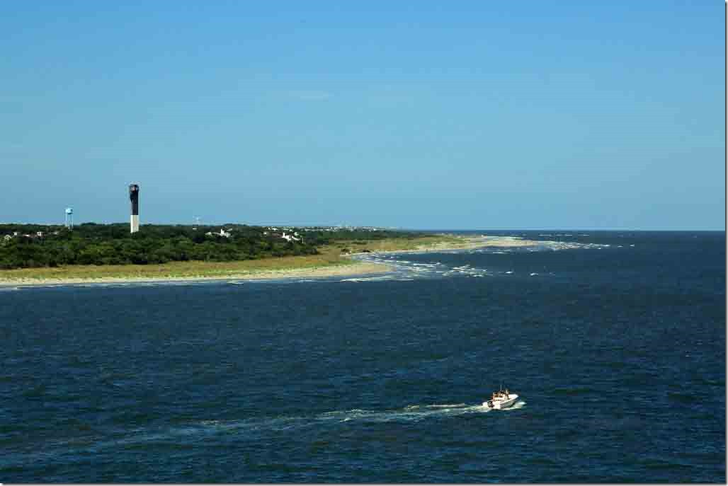 Departure South Carolina coastline looking north from mouth of Charles River