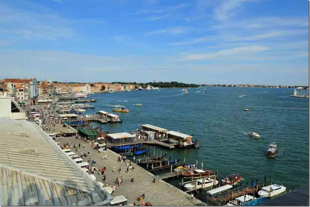 Doge's Palace Giudecca Canal wide angle