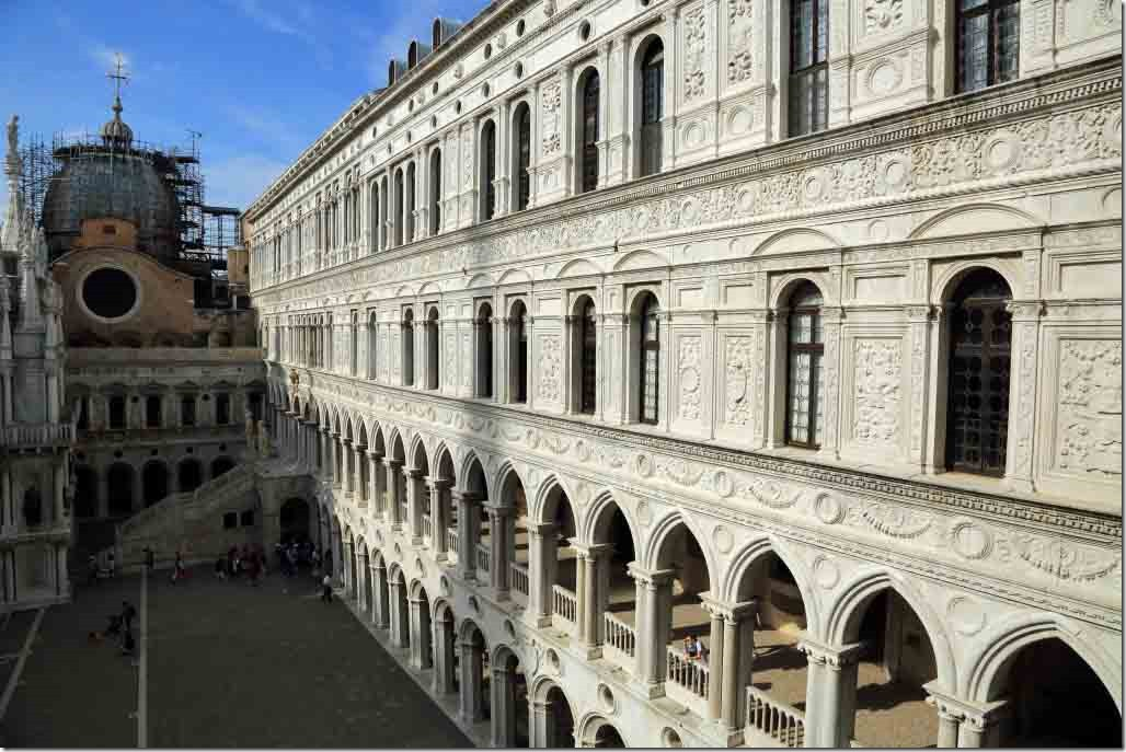 Doge's Palace South Colonnade showing intricate details on the walls