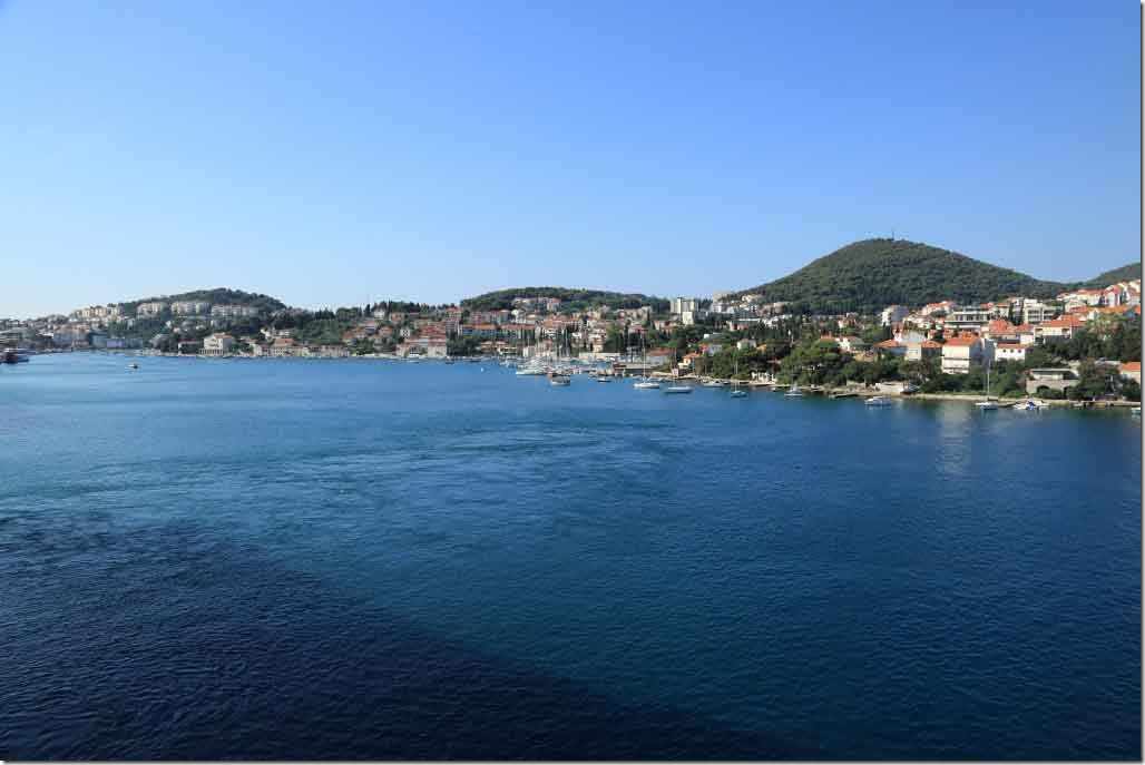 Dubrovnik from our balcony when alongside