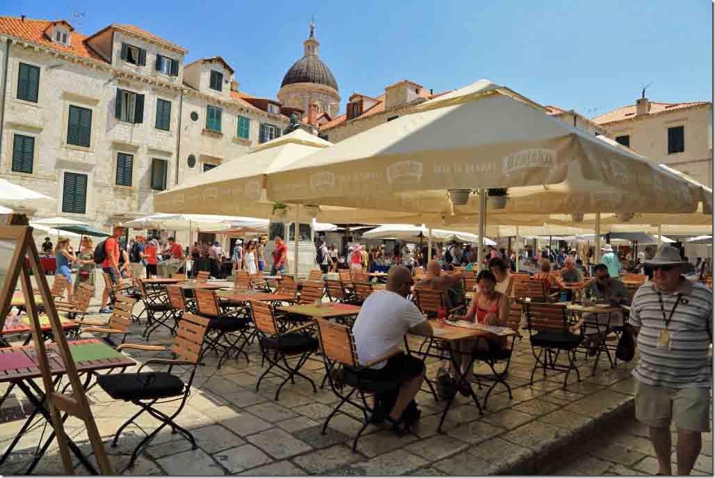 Dubrovnik Old Town beer garden