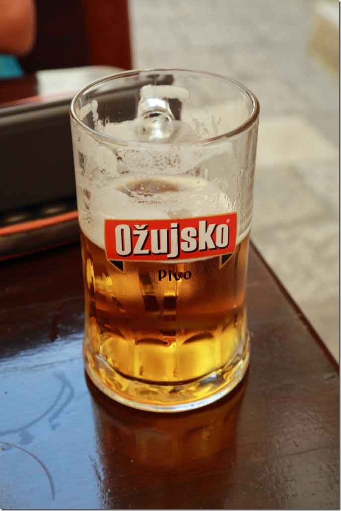 Dubrovnik pint of local beer for lunch