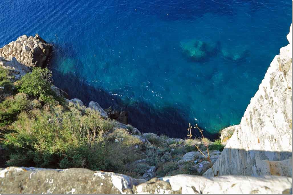 Dubrovnik Wall and crystal clear water below