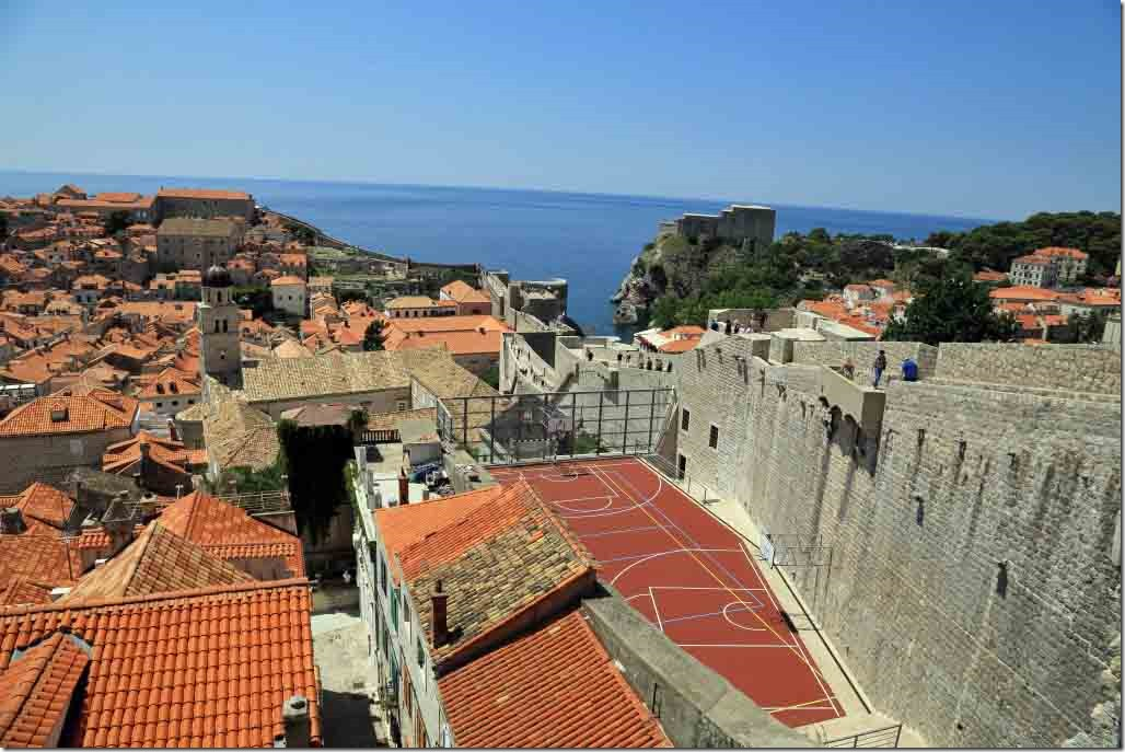 Dubrovnik Wall final stretch is a steep decline