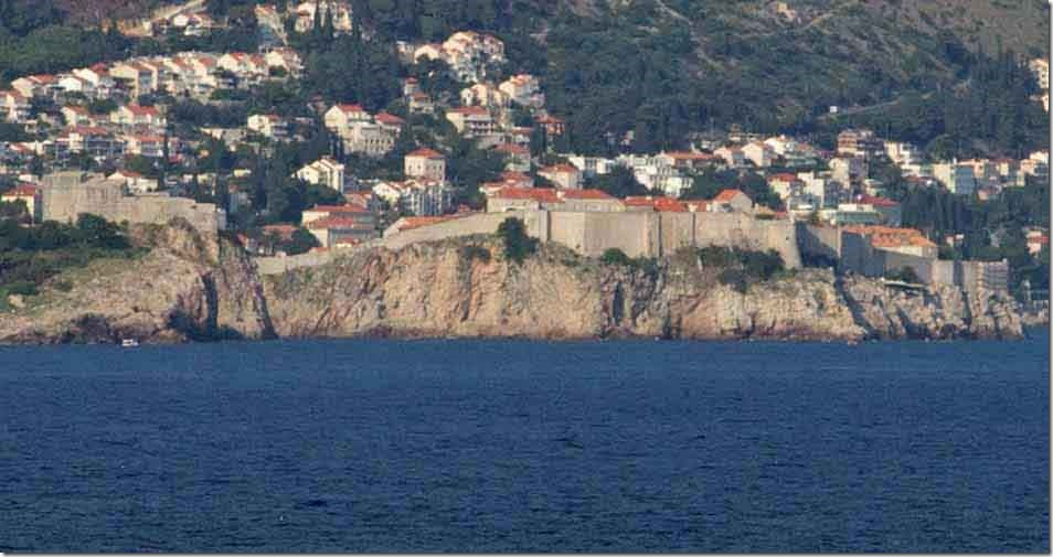 Dubrovnik wall giving an idea of the elevation changes we achieved today