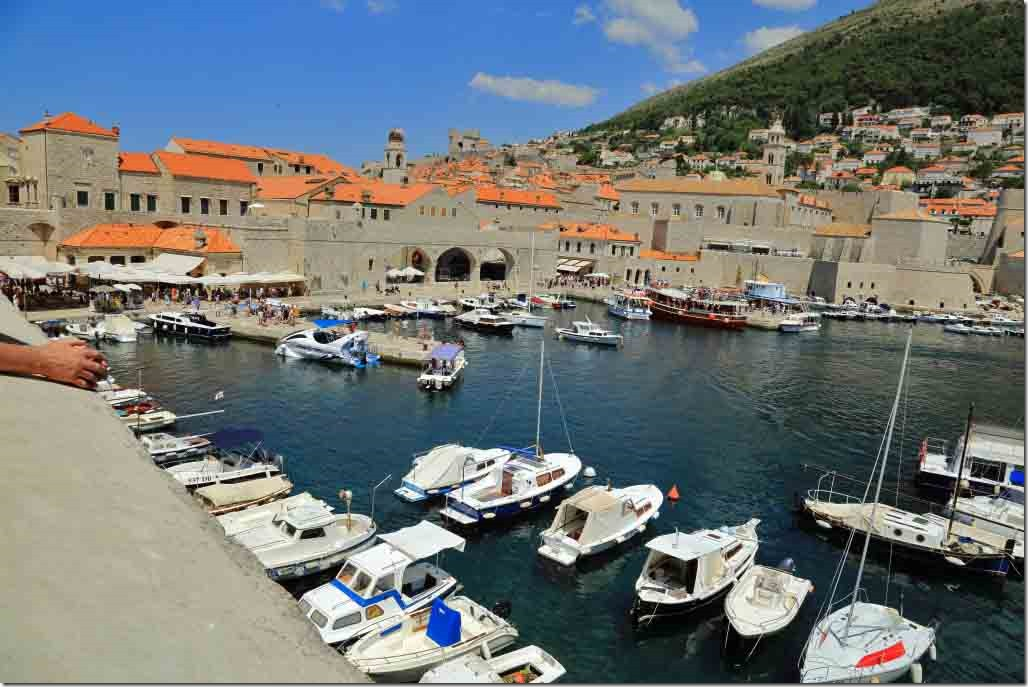 Dubrovnik Wall inner harbour at south end of city