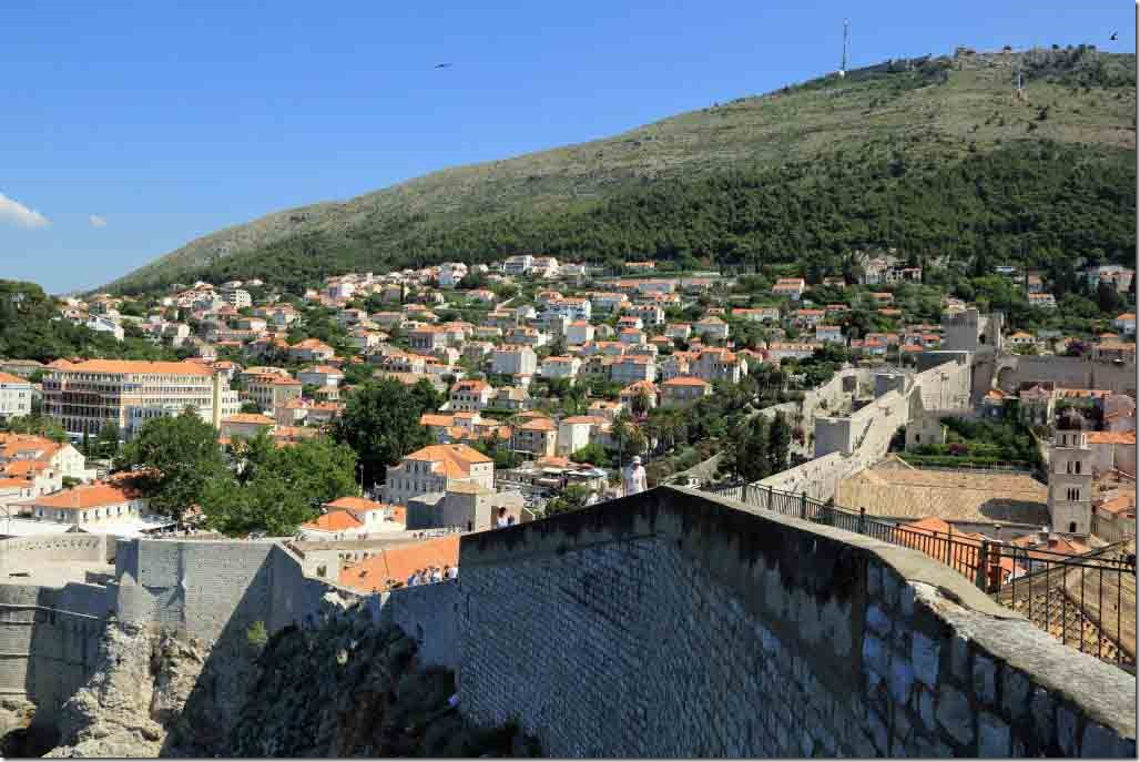 Dubrovnik Wall looking at some of the new city outside the wall