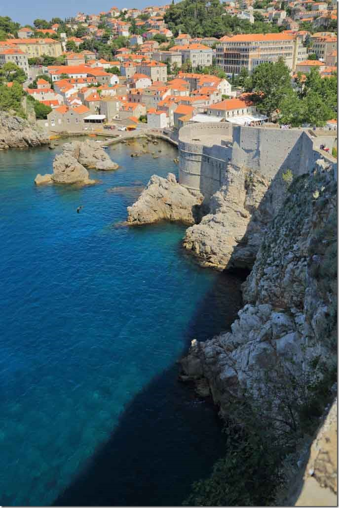 Dubrovnik Wall looking down towards the water