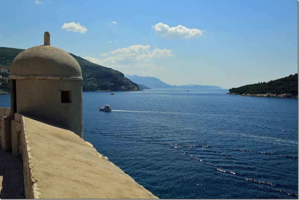 Dubrovnik Wall looking south down the Croatia coastline