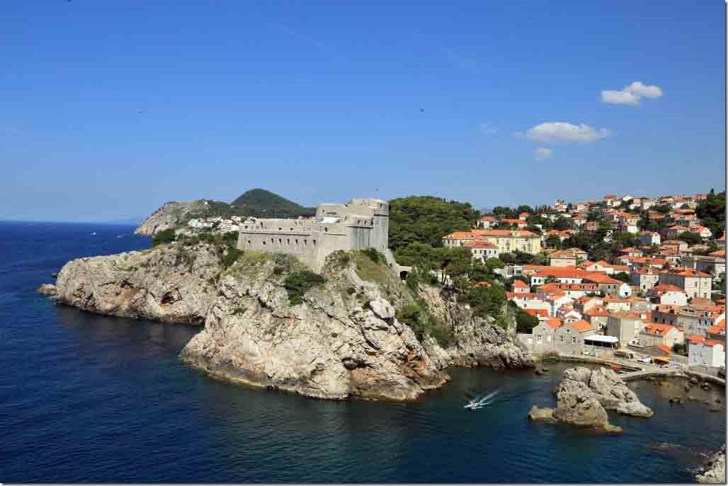 Dubrovnik Wall looking up the Croatia coastline