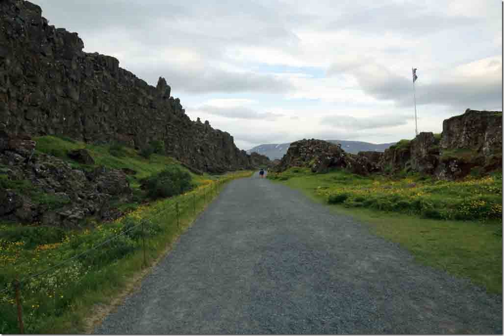Fault line continues with North American plate to the left