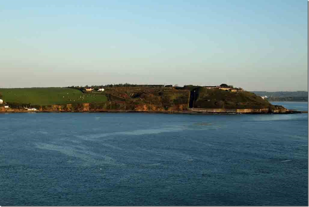 Fort Camden and adjacent farmland at entrance to Cobh Harbour