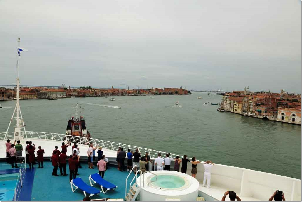 Giudecca Canal looking up towards the cruise terminal