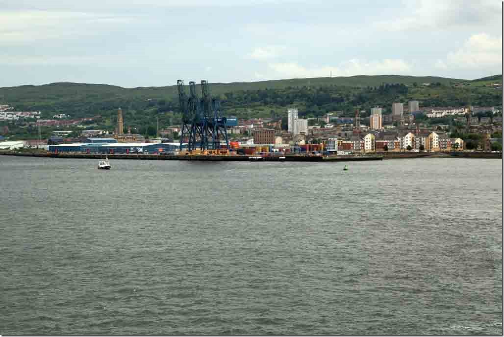 Greenock's Ocen Terminal which was our berth