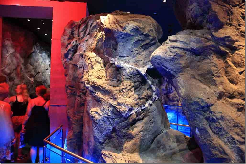 Ground Zero fake rock in basement of Freedom Tower entoute to lifts