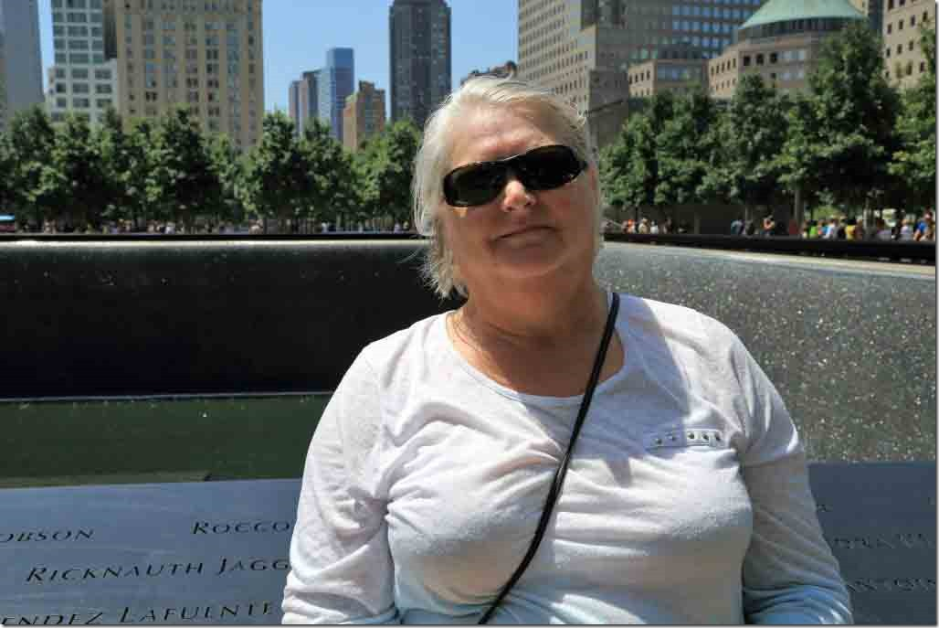 Ground Zero Judi at Twin Tower's Memorial