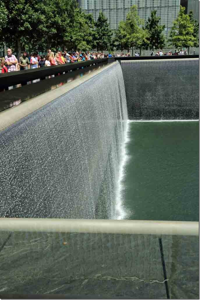 Ground Zero Twin Tower memorial water curtain fast shutter