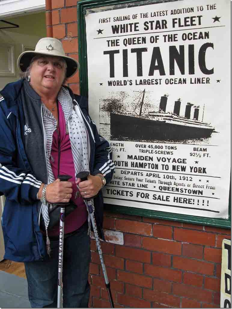 Judi at the Titanic poster
